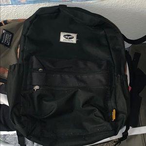 Olympia black backpack three pockets